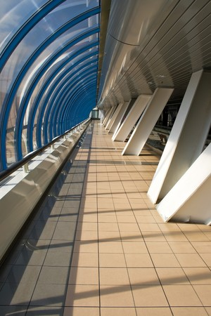 business centre: Pedestrian bridge near the International Business Centre, Moscow, Russia