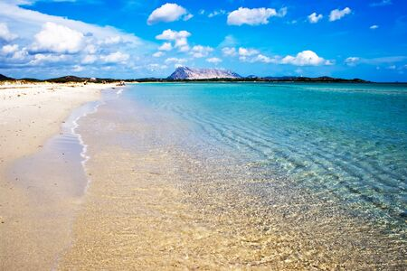 sardaigne: Plage de sable � Cinta, pr�s de San-Teodoro, Sardaigne, Italie Banque d'images
