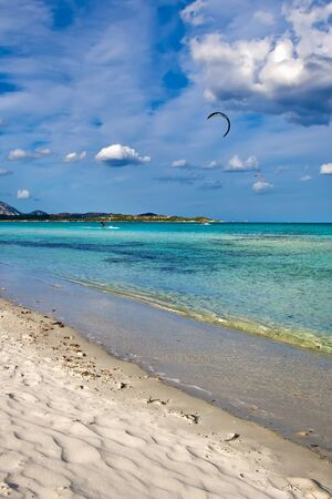 cinta: beautiful beach La Cinta in Sardinia, Italy Stock Photo