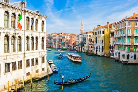 Grand Canal, the most important canal in Venice, Italy Stock fotó