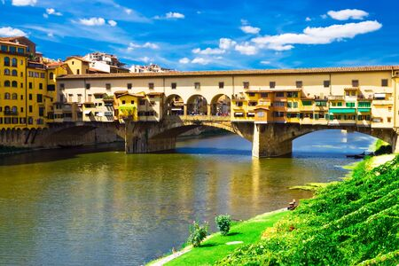 florence: Ancient bridge Ponte Vecchio in Florence. Italy.