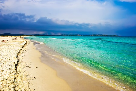 Beautiful beach La Cinta near San-Teodoro, Sardinia, Italy photo