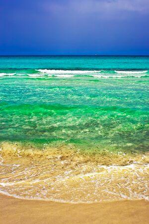 cinta: Sandy beach La Cinta in Sardinia, Italy
