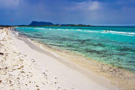 cinta: Beach La Cinta near San Teodor in Sardinia, Italy