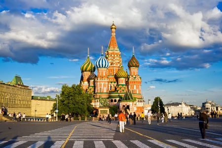 St Basil's Cathedral on Red Square, Moscow, Russia Banque d'images