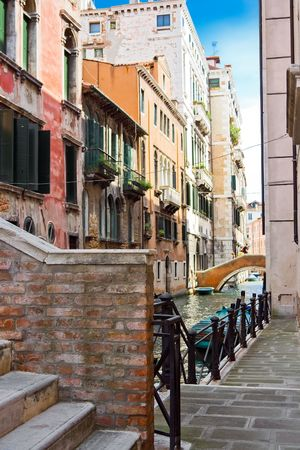 beautiful canal bridges in Venice, Italy Stock Photo - 4655880