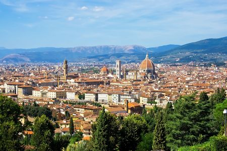 The panorama of Florence old city, Italy Stock Photo
