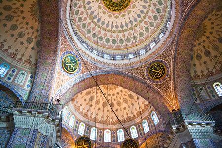 Yeni Cami Nieuwe moskee in Istanbul, Turkije Redactioneel