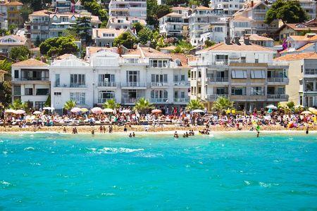 Beach on Kinali island near Istanbul, Turkey Banque d'images