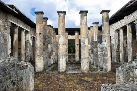 Ancient ruins of roman city Pompeii, Italy photo