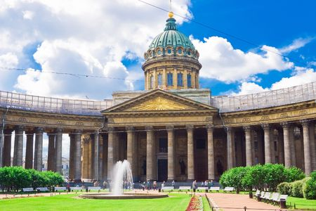 Kazan Cathedral or Kazanskiy Kafedralniy Sobor in Saint Petersburg Stock Photo - 4682235