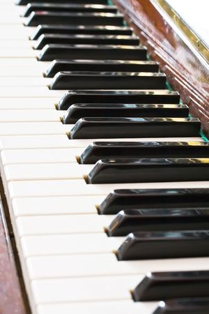 Closeup perspective view of a piano keyboard Stock Photo - 4682097