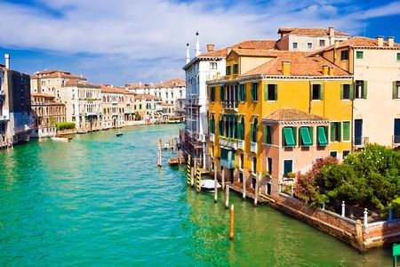 Famous water street - Grand Canal in Venice, Italy Stock Photo - 4707911