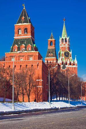 spasskaya: Red Square, Kremlin and Spasskaya tower, Moscow