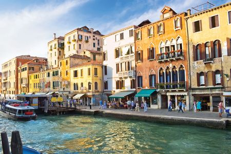 Famous Grand Canal in Venice and typical venetian architecture, Italy photo