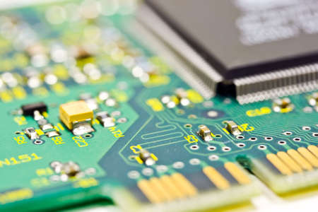 Extreme close up of a computer card Stock Photo