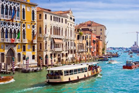 Famous water street - Grand Canal in Venice, Italy Stock Photo - 4727784
