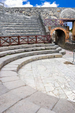amphitheater: Ancient ruins of a small amphitheater in Pompeii, Italy Stock Photo
