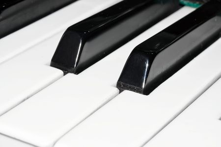 Closeup perspective view of a piano keyboard Stock Photo - 4727687