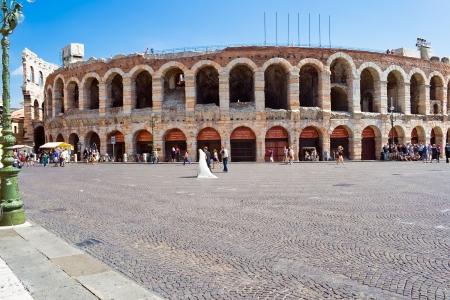 Oude Romeinse amfitheater Arena in Verona, Italië Stockfoto
