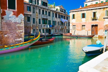 A typical venetian canal in summer, Venice Stock Photo - 4792739