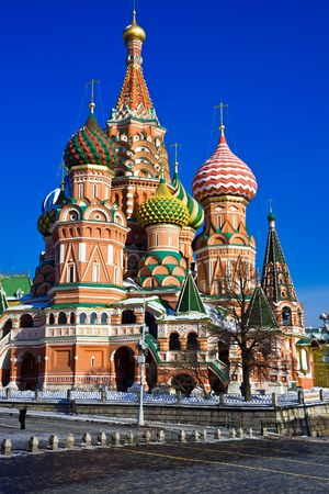 kremlin: St Basils Cathedral on Red Square, Moscow, Russia