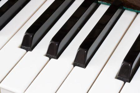 Closeup view of a piano keyboard Stock Photo - 4792814