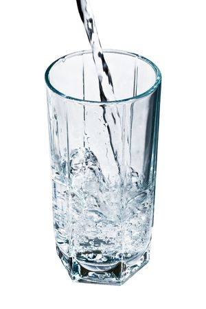 quencher: A glass of fresh and clear water Stock Photo