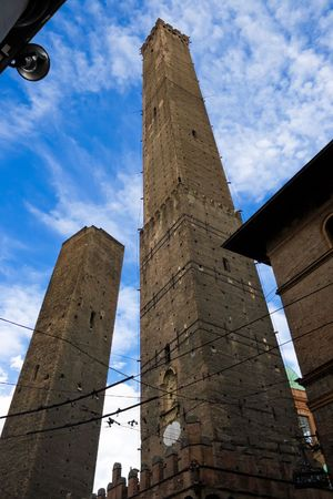 Garisenda and Asinelli leaning towers. Bologna, Italy photo