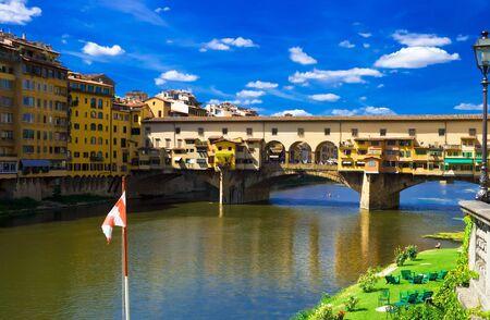 Anciant bridge Ponte Vecchio in Florence. Italy.