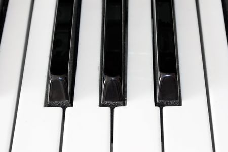 Closeup view of a piano keyboard Stock Photo - 4792874