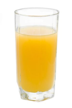 refreshed: Glass of fresh orange juice