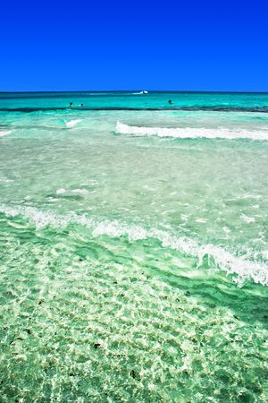 cinta: The view from sandy beach Cinta near San-Teodoro, Sardinia, Italy Stock Photo