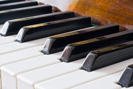 Closeup view of a piano keyboard Stock Photo - 4808007