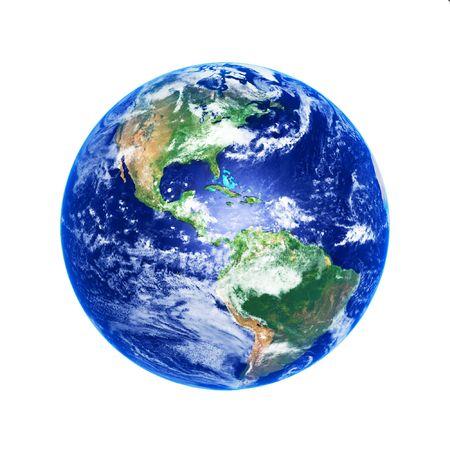 Earth Globe, hoge resolutie afbeelding