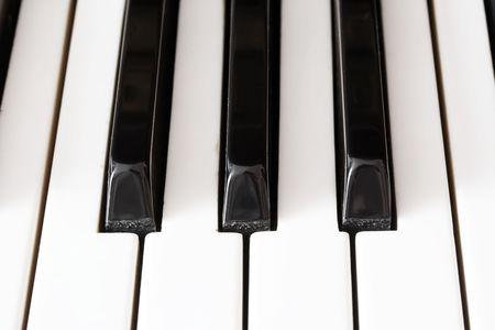 Closeup view of a piano keyboard Stock Photo - 4815901