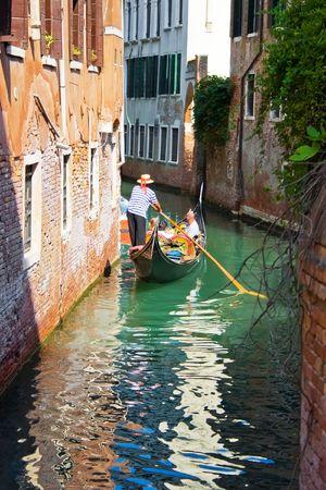 canal house: Tipico canale a Venezia, Italia Archivio Fotografico