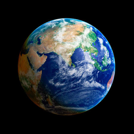 Earth Globe, Asia, high resolution image photo