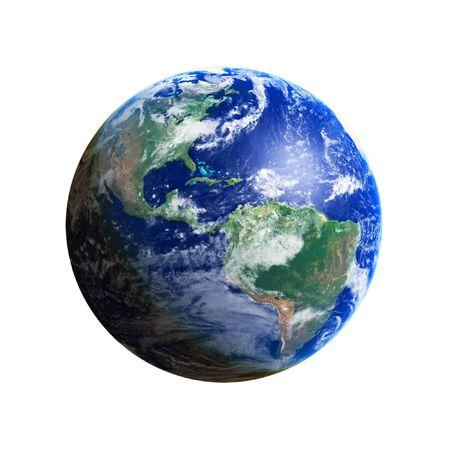 Earth Globe (America), high resolution image