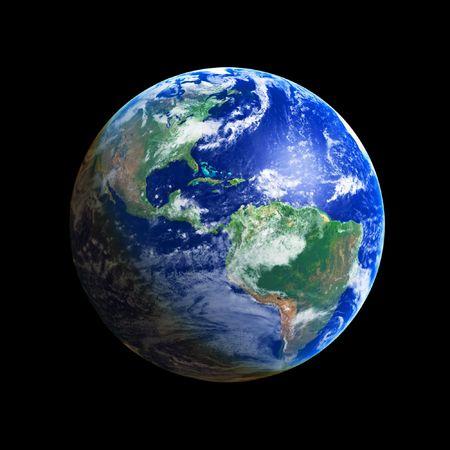 planisphere: Earth Globe (America), high resolution image