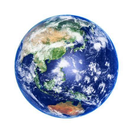 terra: Earth Globe, Asia and Australia, high resolution image