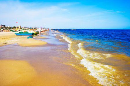 adriatic: A beach in Adriatic sea, Rimini, Italy