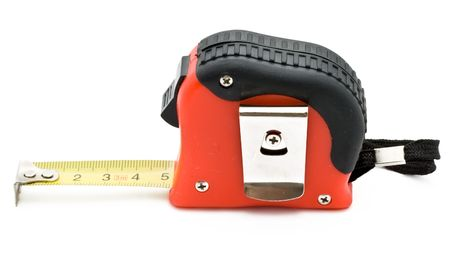 Red tape measure on white background Stock Photo - 5217482