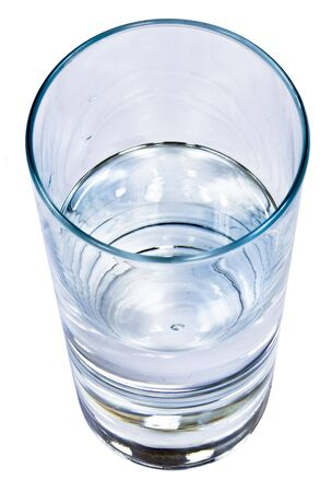A glass of fresh and clear water photo
