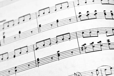 pentagramma musicale: Libro di note musicali close up