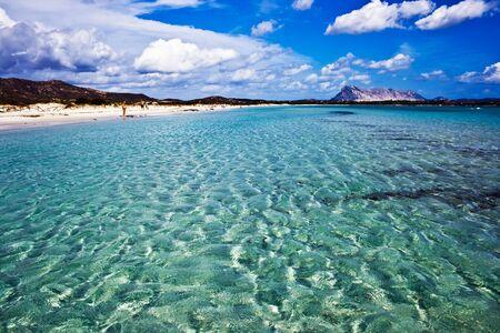 cinta: Clear sea and sandy beach La Cinta, Sardinia, Italy Stock Photo