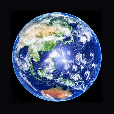 planisphere: Earth Globe, Asia, high resolution image