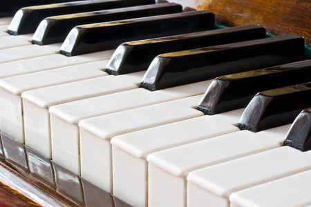 Closeup view of a piano keyboard Stock Photo - 5707826