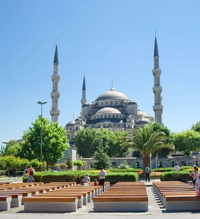 byzantium: Famous Sultan Ahmed Mosque in Istanbul, Turkey