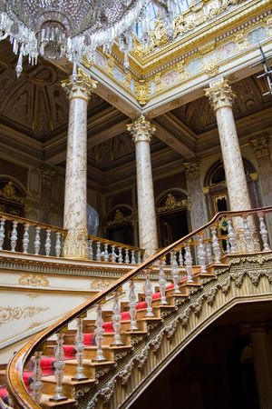 Crystal Staircase in Dolmabahce Palace, Istanbul